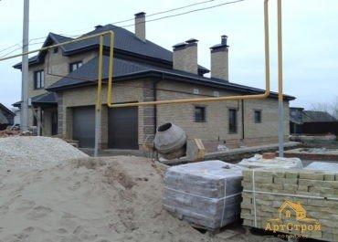Дом 370м2 из колотого кирпича в с.Приморский